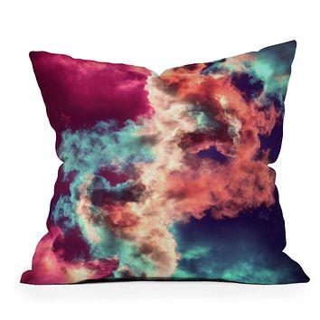 Caleb Troy Yin Yang Painted Clouds Throw Pillow
