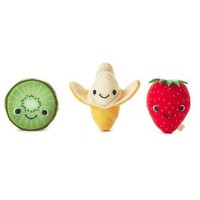 Happy Go Luckys Fresh Fruities Mini Stuffed Animals, Set of 3