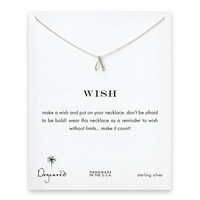 Dogeared, Wish Wishbone Necklace, Sterling Silver 16 inch