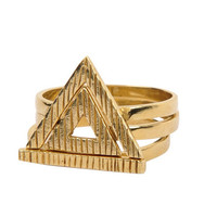Ladies Ring Geometric Strong Character Punk Set [4956918980]