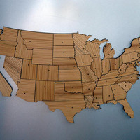 United States Magnetic Geography Puzzle Long by PipeDreams2010