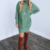 Lovely Day Dress: Dusty Olive