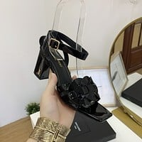 ysl women casual shoes boots fashionable casual leather women heels sandal shoes 223