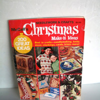 Vintage McCalls Christmas Magazine 1976 Needlework & Crafts 200 Ideas Has Some Wear