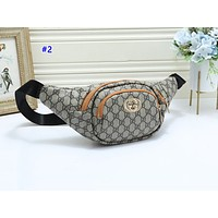 GUCCI hot seller of casual lady slant across the chest bag fashion printing patchwork color Fanny pack #2