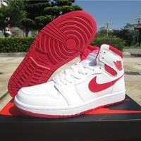Air Jordan 1 Retro White/Red Shoe