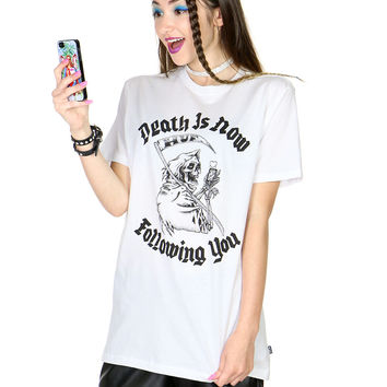 DEATH IS FOLLOWING YOU TEE