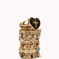 Cutout Stackable Ring Set