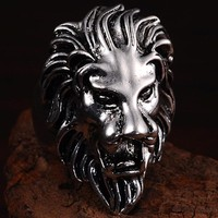 2016 Punk Vintage Trend Man's Ring Gothic Men's Lion Biker Zinc alloy Ring Man fashion rings Free shipping sa1056