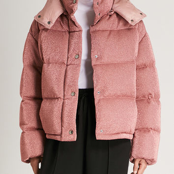 MONCLER Caille hooded metallic shell-down coat