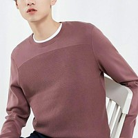 Men  Autumn Fashion Long Sleeve Knitted Men Cotton Sweater High Quality Clothes
