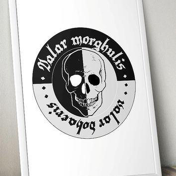 Valar morghulis, Game of Thrones - Printable Poster - Digital Art - Download and Print