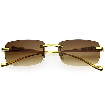 Jaguar Fashion Gold Plated Detail Small Square Sunglasses D216