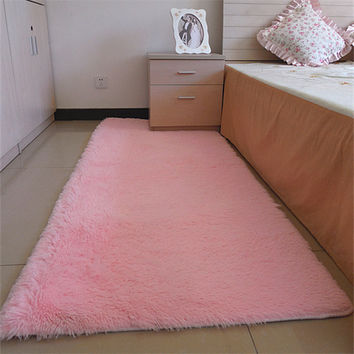 80*160cm Fashion Carpet Bedroom Decorating Soft Floor Carpet Warm Colorful Living Room Floor Rugs Slip Resistant Mats
