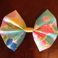 """""""Spring Fling"""" Lilly Pulitzer fabric hair bow from Bows on Main Boutique"""