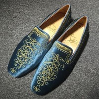 Christian Louboutin CL Loafer Style #2397 Sneakers Fashion Shoes Best Deal Online