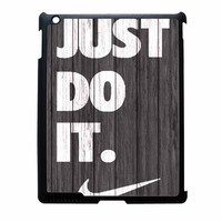 Nike Just Do It Wood Colored Darkwood Wooden iPad 3 Case