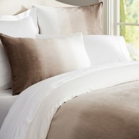 OMBRE LINEN DUVET COVER & SHAM - NEUTRAL