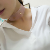 Five-Pointed Star Organza Choker Necklace