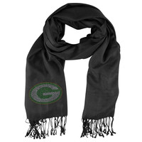 Green Bay Packers NFL Black Pashi Fan Scarf