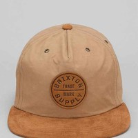 Brixton Oath Suede Brim Baseball Hat- Tan One