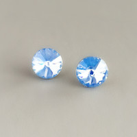 Periwinkle Crystal Stud Earrings