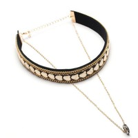 Casual Gothic Heart Layered Choker Necklace