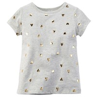 Baby Girl Carter's Foil Heart Tee