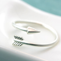 Arrow Ring Simple Adjustable Regular Wrap Ring Jewelry gift idea Free size Gold Silver Color Select