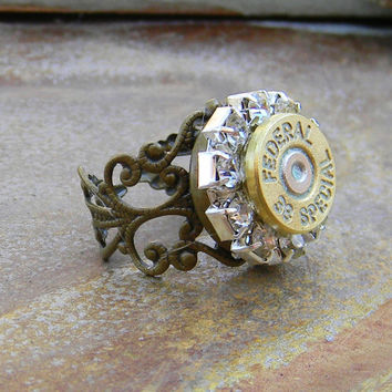 Bullet Ring, Shell Case Ring, Bullet Jewelry, 38 Special, Outlaw Glam