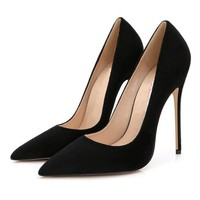 Stilettos Womens Shoes High Heels 12CM High Heels Purple Shoes Pumps Women Heels Sexy