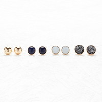 Round Faux Crystal Stud Set - Jewellery - 1000162759 - Forever 21 UK