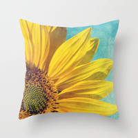 pure sunshine Throw Pillow by Sylvia Cook Photography | Society6