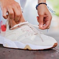 Puma Blaze Of Glory x Careaux x Graphic Valentine Rose Joint Name Sneakers Shoes Beige