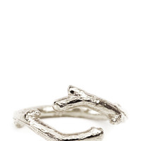 Twig Ring in Sterling Silver