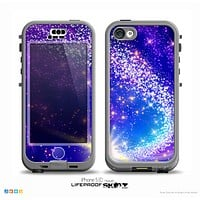The Glowing Pink & Blue Comet Skin for the iPhone 5c nüüd LifeProof Case