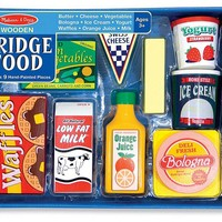Wooden Fridge Food Set