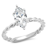 14K White Gold 1.8CT Oval Cut Russian Lab Diamond Halo Engagement Ring
