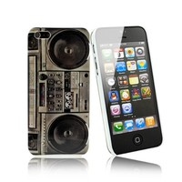 iClover - NEW VINTAGE/80S and COOL iPhone 5 HARD CASE IN VINTAGE RADIO DESIGN. PROTECTIVE CASE. OLD RADIO DESIGN 80S VINTAGE