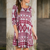 Afternoon Tealight Dress, Burgundy