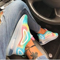Bunchsun Nike Air Max 720 Rainbow Popular Women Casual Cool Running Sport Shoes Sneakers