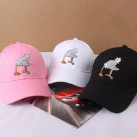 SIMPLE - Summer Gift Retro Embroidery Ostrich Baseball Cap Unique Casual Hat a12448