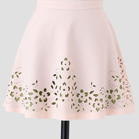 Leaves In The Wind Laser Cut Skirt