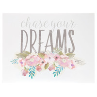 Chase Your Dreams MDF Wall Block | Hobby Lobby