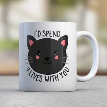 Cat Lover Gift - Birthday Gift - Funny Cat Mug - Kitty Mug - Pink - Black Cat - Cute Cat - Girlfriend Gift