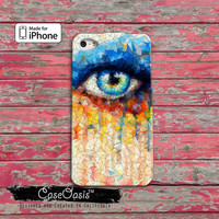 Watercolor Eye Art Paint Melt Modern Tumblr Eye Lashes iPhone 4 Case and iPhone 5/5s/5c Case and iPhone 6, 6 Plus, 6s, 6s Plus + Wallet Case