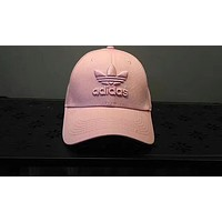 ADIDAS Clover 2018 Tide brand Fashion Casual Embroidery Sun Hat F-ADD-MRY pink