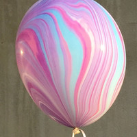 Marble Swirl Tie Dye Latex Balloons Made in USA Big Balloon Wedding bridal party  shower baby