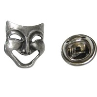 Textured Drama Happy Mask Lapel Pin
