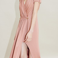 Mock Neck Pleated Dress | Moda Operandi
